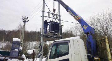 СНТ Сестроречье - установка трансформатора